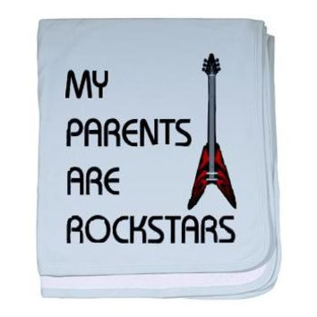 My Parents Are Rockstars baby blanket> Tammi's Gifts