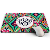 Lilly Pulitzer Mousepad, Custom Mouse Pad personalized with your name initials or monogram, Made to Order - 0026
