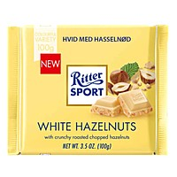 Ritter Sport White Chocolate with Hazelnuts, 3.5 oz (100 g)