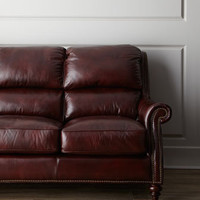 "Hooker Furniture - ""Fontanna"" Leather Sofa - Horchow"