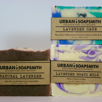 Lavender Soap Gift Set - Cold Process Soap, Cocoa Butter Soap, Homemade soap, Bar Soap, Men's Soap, Soap Sets, Unisex Soap, Fathers Day Gift