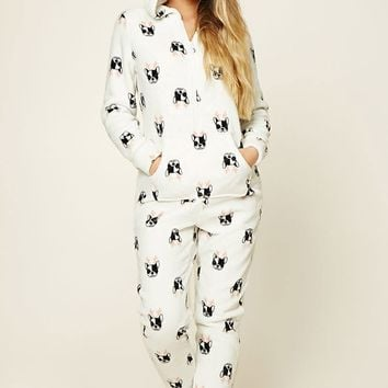Holiday Dog Print PJ Jumpsuit