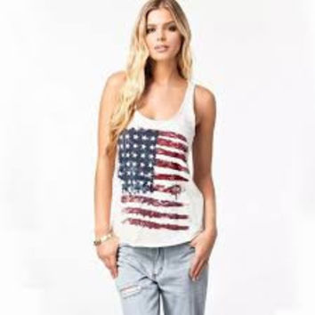 American flag T-shirt for women