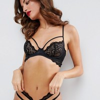 ASOS Malin Lace Strappy Underwire Bra at asos.com