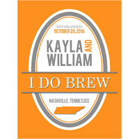 I Do Brew - Wedding Beer Labels