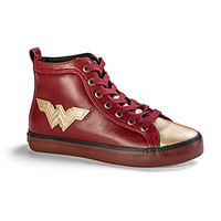 Wonder Woman Metallic Hi-Top Sneakers