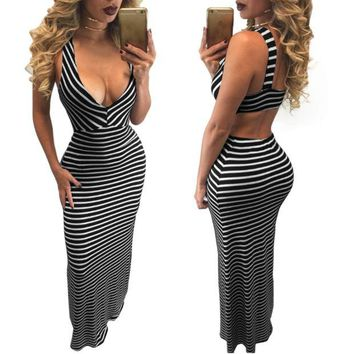DCCK7XP Sexy Striped Knit Dress