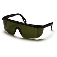 Pyramex Integra Safety Glasses - Black Frame - Green Shade 3.0 Lens
