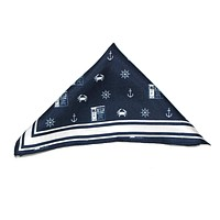 Nautical Crab, Anchor & Old Bay (Navy) / Pocket Square