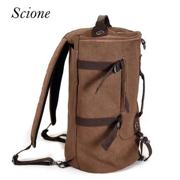 Fashion Men Large Capacity Canvas Luggage Travel Bags Double Shoulder duffle Vintage Laptop backpacks Women voyage Bolso Li347