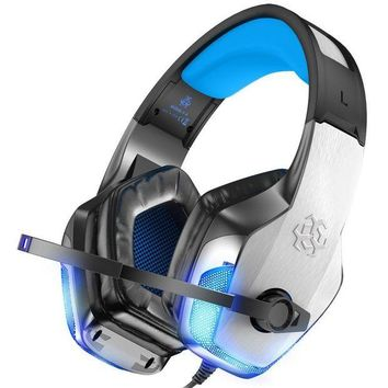 ONETOW BENGOO X-40 Gaming Headset for Xbox One, PS4, PC, Controller, Noise Cancelling Over Ear Headphones with Mic, LED Light Bass Surround Soft Memory Earmuffs for Computer Laptop Mac Nintendo Switch Games
