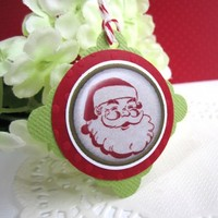 Santa Claus Christmas Label Gift Tags for Holiday Seasons Greetings