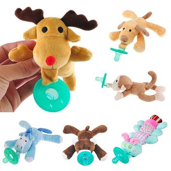 Baby Feeding - Plush Animal Silicone Pacifier