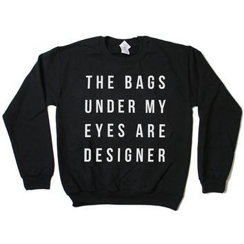 Designer Sweatshirt Jumper (Black)
