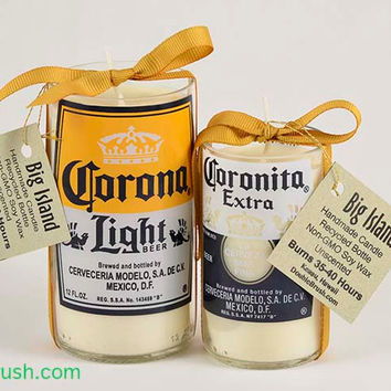 Corona Bottle Candles Set of 2 Corona Light & Small Coronita
