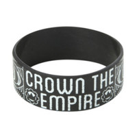 Crown The Empire Sketch Rubber Bracelet