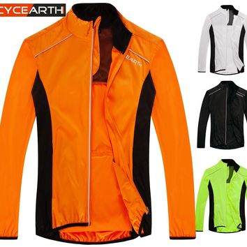 CYCEARTH Wind Coat Reflective Breathable Bike Bicycle Cycling Cycle Windcoat Windproof Jersey Outdoors Sport Jacket 4 Colors