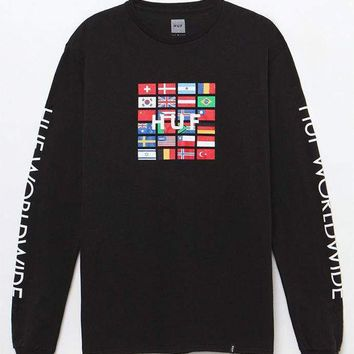 DCCKJH6 HUF Stadium Global Long Sleeve T-Shirt
