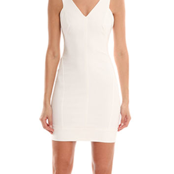 Helmut Lang V Neck Fitted Frame Dress