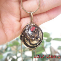 The Vampire Diaries Inspired Openable Vervain Necklace/ Elena Gilbert / Retro Bronze