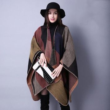 Women Scarf Cashmere Ponchos And Capes
