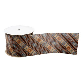 Southwest Design Gray Brown Blank Ribbon