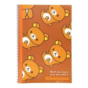 Rilakkuma SP Notebook - Small Rilakkuma Brown Background