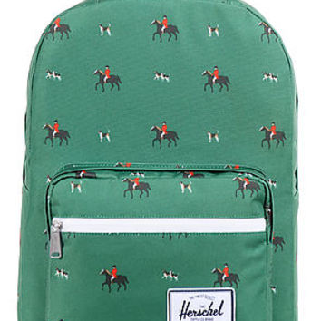 The Pop Quiz Backpack in Emerald Sunday Print