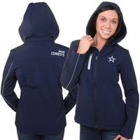 Dallas Cowboys Women's Navy Blue Softshell Full Zip Jacket