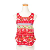 Christmas Pixels Red Tank Top
