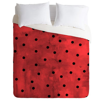 Georgiana Paraschiv Flamenco Dots Duvet Cover