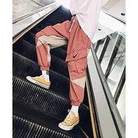 Nike Trending Women Men Stylish Embroidery Pink Sport Pants Trousers Sweatpants