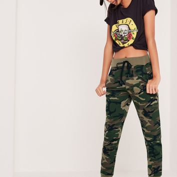 Missguided - Camo Joggers Green