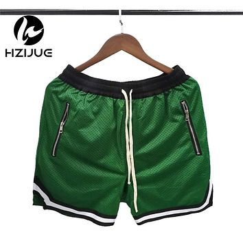 Summer Stylish Jogger Mesh Shorts Casual Hip Hop Dropped Crotch Net Breathable Men's Sweatpants