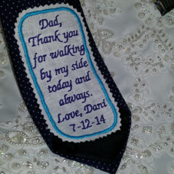 Gift for Dad.Necktie Patch Embroidered Necktie Patch.Love letter .Tie Patches.Gift for Father of the Bride.Grandfather Gift. Love Notes