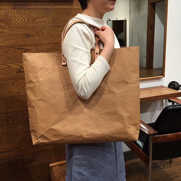 Tote Bag Grand : Kraft paper
