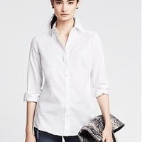 Fitted Non-Iron Basketweave Shirt