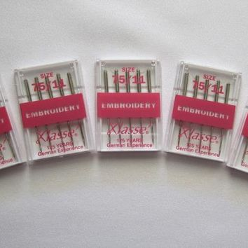 25 Klasse Machine Embroidery Needles Size 75/11