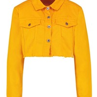 Tangerine Denim Jacket | Boohoo