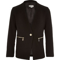 River Island Girls black long sleeve blazer
