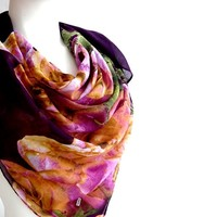 BUY ANY 3 GET 1 OF THEM FREE, large cotton scarf, purple scarf, unique scarves, large square scarf, gift for girlfriend, valentines day gift, soft scarf shawl ladies
