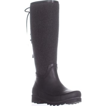Nine West Oops Lace Up Rain Boots, Dark Grey Multi, 6 US