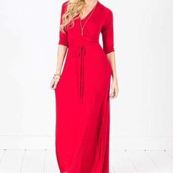 Women Wrap Maxi Dress - Free Shipping