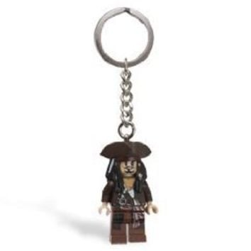 LEGO Pirates of the Caribbean Captain Jack Sparrow Key Chain 853187