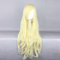 Blonde Long Costume Cosplay Wig Heat Friendly High Temperature Synthetic Hair