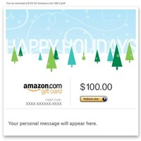 Amazon Gift Card - Email - Happy Holidays (Trees)