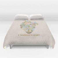 A Traveler's Heart Duvet Cover by Bianca Green