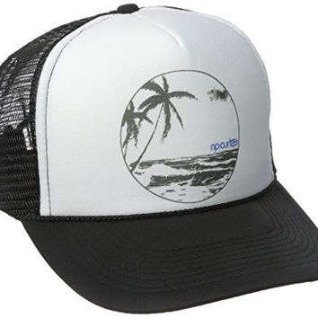 Rip Curl Junior's Ocean View Trucker Hat, Black, One Size
