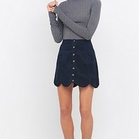 Urban Outfitters Scallop-Edge Corduroy A-Line Skirt - Urban Outfitters