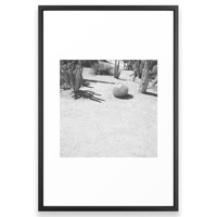Society6 Cacti In Black White Framed Print